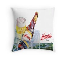 Hamms Beer Pillow Throw Pillow