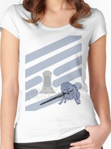 Great Grey Wolf Sif and Artorias Women's Fitted Scoop T-Shirt