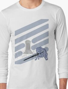Great Grey Wolf Sif and Artorias Long Sleeve T-Shirt