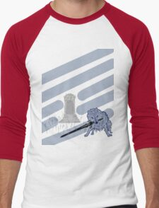 Great Grey Wolf Sif and Artorias Men's Baseball ¾ T-Shirt