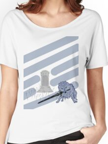 Great Grey Wolf Sif and Artorias Women's Relaxed Fit T-Shirt