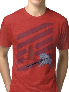 Great Grey Wolf Sif and Artorias Tri-blend T-Shirt