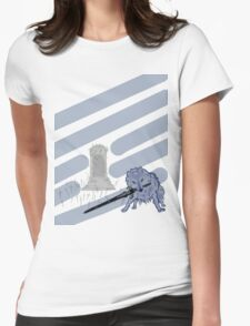 Great Grey Wolf Sif and Artorias Womens Fitted T-Shirt