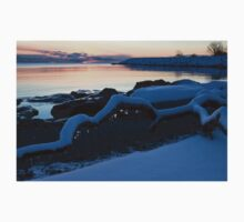 Icy, Snowy Winter Sunrise on the Lake One Piece - Long Sleeve