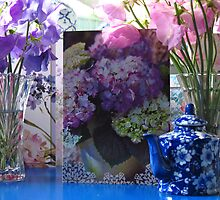Still life garden - Sweet Pea Birthday flowers by outbackjack