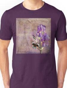 Ville de Paris II vintage style French floral garden art Unisex T-Shirt