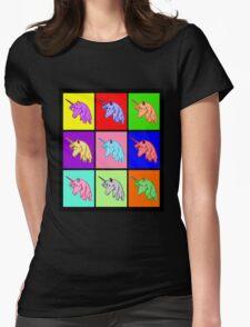 Pop Art Unicorn Womens Fitted T-Shirt