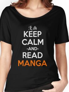 Keep Calm And Read Manga Shirt Women's Relaxed Fit T-Shirt