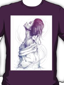 Beautiful Lady in Purple, Portrait, Feminine T-Shirt