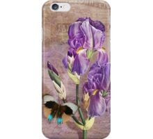 Ville de Paris II vintage style French floral garden art iPhone Case/Skin