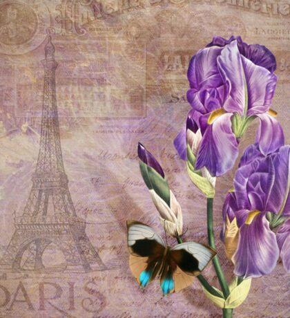 Ville de Paris II vintage style French floral garden art Sticker