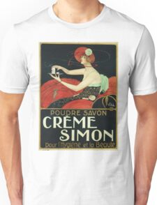 Joaquim Vayreda Vila - Creme Simon Poster. Woman portrait: sensual woman, girly art, female style, pretty women, femine, beautiful dress, cute, creativity, love, sexy lady, erotic pose Unisex T-Shirt