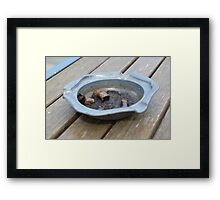 The dead cigarettes Framed Print