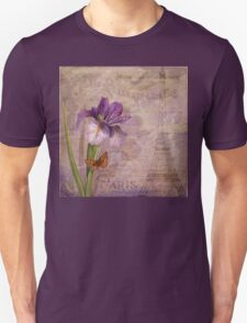 Ville de Paris French floral garden art Unisex T-Shirt