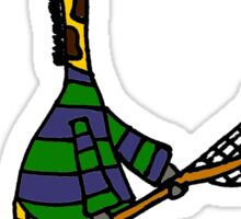 Funny Cool Giraffe Playing Lacrosse Sticker