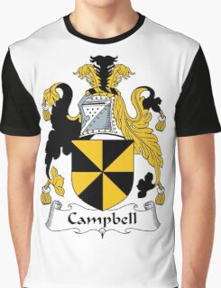 Campbell Coat of Arms / Campbell Family Crest Graphic T-Shirt