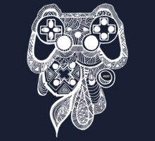 Games Console Zentangle All White by Tangldltd