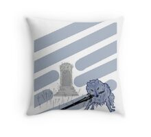Great Grey Wolf Sif and Artorias Throw Pillow