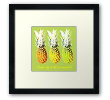 Cool Off With Pineapple Framed Print
