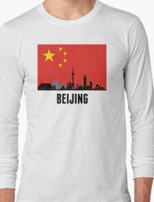 Beijing Chinese Flag Long Sleeve T-Shirt
