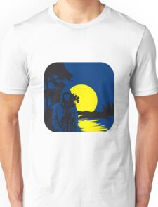 full moon melancholy nature Unisex T-Shirt