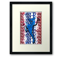 Muay Thai Boxing Flag Fighter Thailand Martial Art Framed Print