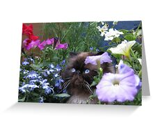 The Magnificats Tom Card in Flowers Greeting Card