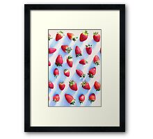Sunset Strawberries Framed Print