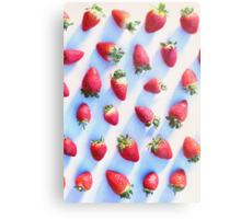 Sunset Strawberries Metal Print