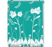 Turquoise Flower Garden iPad Case/Skin