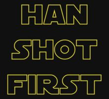Han Shot First One Piece - Short Sleeve