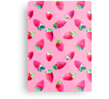 Pink Strawberry Pop Metal Print