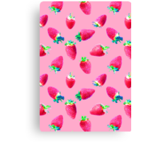 Pink Strawberry Pop Canvas Print