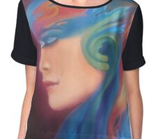 Surreal woman Chiffon Top