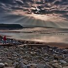 Lahinch Beach Sunset County Clare Ireland by Noel Moore Up The Banner Photography