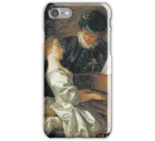 Jean-Honore Fragonard - The Music Lesson. Girl portrait: cute girl, girly, female, pretty angel, child, beautiful dress, face with hairs, smile, little, kids, baby iPhone Case/Skin