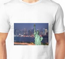 Night New York City Skyline over Hudson  Unisex T-Shirt