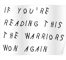 Warriors NBA Finals Champions 2016 Poster
