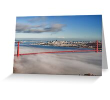 San Francisco Cityscape Golden Gate Bridge Greeting Card