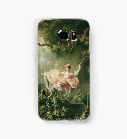 Jean-Honore Fragonard - The Swing. Lovers portrait: sensual woman, woman and man, kiss, kissing lovers, love relations, lovely couple, family, valentine's day, sexy, romance, female and male Samsung Galaxy Case/Skin
