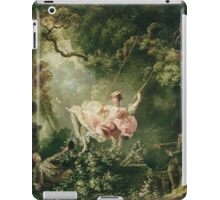 Jean-Honore Fragonard - The Swing. Lovers portrait: sensual woman, woman and man, kiss, kissing lovers, love relations, lovely couple, family, valentine's day, sexy, romance, female and male iPad Case/Skin