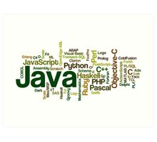 programming languages cloud Art Print