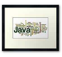 programming languages cloud Framed Print