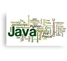 programming languages cloud Metal Print