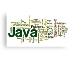 programming languages cloud Canvas Print