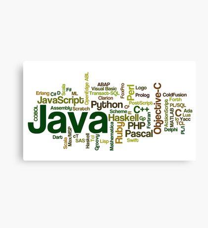 programming languages cloud Canvas Print