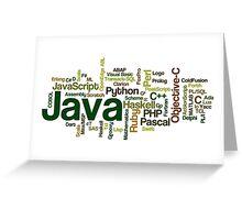 programming languages cloud Greeting Card
