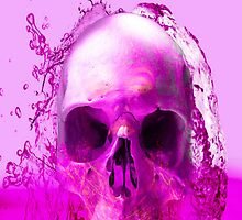 Purple Skull in Water by Icarusismart
