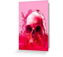 Red Skull in Water Greeting Card