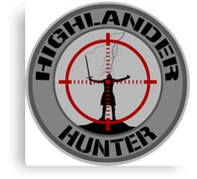 Highlander Hunter (Black & Grey version) Canvas Print